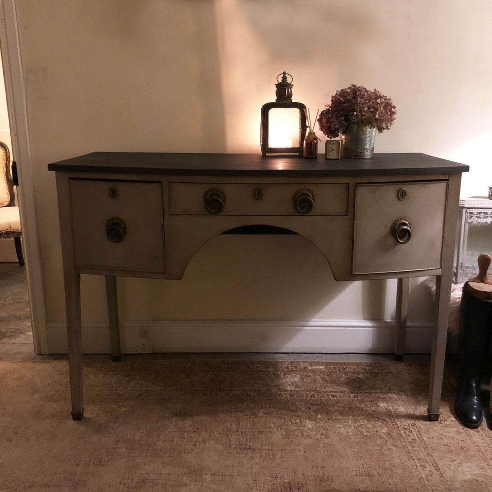 Antique Grey Painted Country Regency Style Buffet Sideboard Cabinet Chunky Handles Shop
