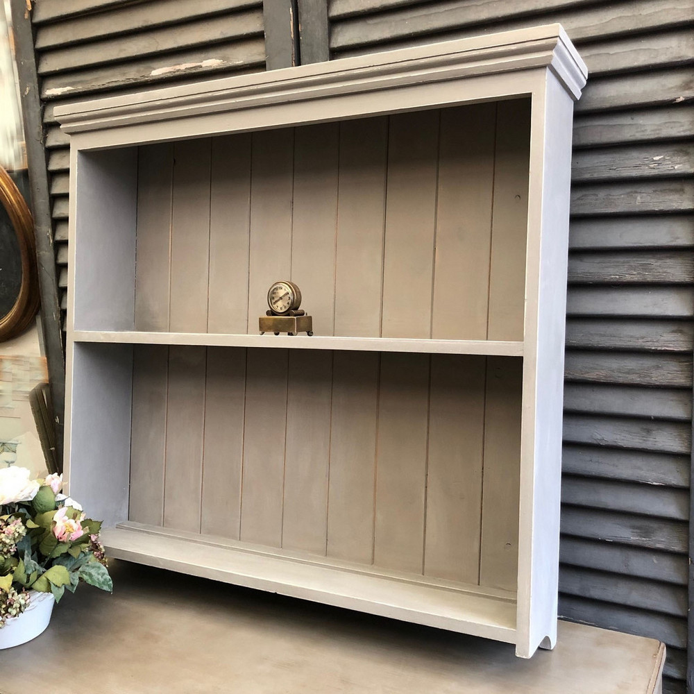 Vintage Grey Painted Pine Wall Hanged Country Farmhouse
