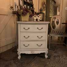 Vintage Small French Country Style Ornate Chest of Drawers Bedside Cabinet Table