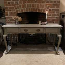 Elegant Grey Painted French Country Chic Style Vintage Console Table / Basin Base