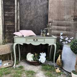 Gorgeous French Country Duck Egg Blue Painted Vintage Lady's Desk / Console Table