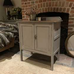 Gorgeous Grey Hand Painted Gustavian Country Style Vintage Cabinet / Basin Base