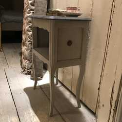 Gorgeous Grey Hand Painted Vintage French Country Chic Style Bedside / Side Table