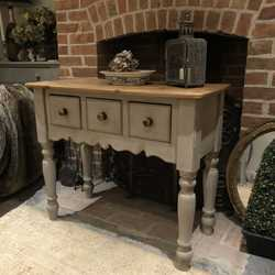Grey Hand Painted Vintage Country Farmhouse Console Table Sideboard Basin Base