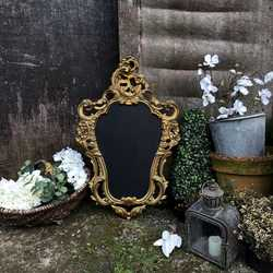 Ornate Gold French Baroque Rococo Style Framed Wall Mounted Blackboard Noticeboard