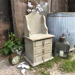 Rustic Vintage Country Farmhouse Grey Hand Painted Spice Cabinet Storage Unit