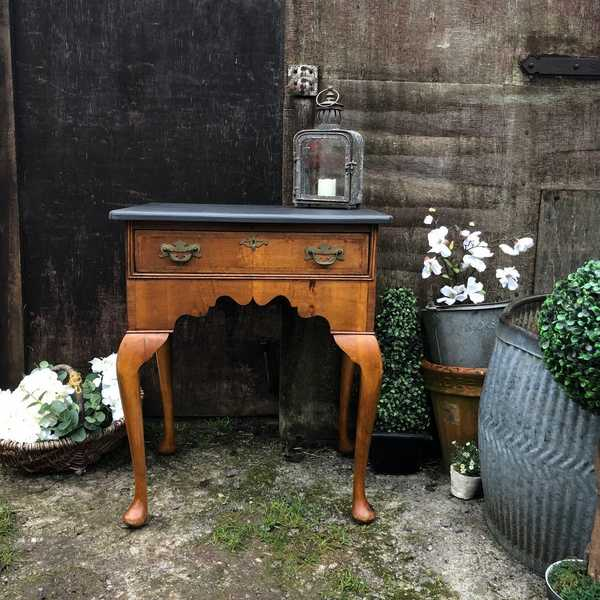 Charming Vintage Country Antique Chic Yew  Low Boy / Console Table / Bedside Table
