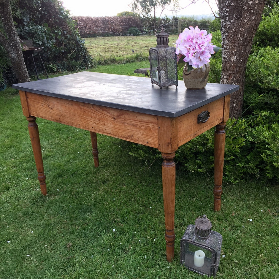 Pine Kitchen Tables For Rustic Country Farmhouse Pine Kitchen Table Writing Desk Black
