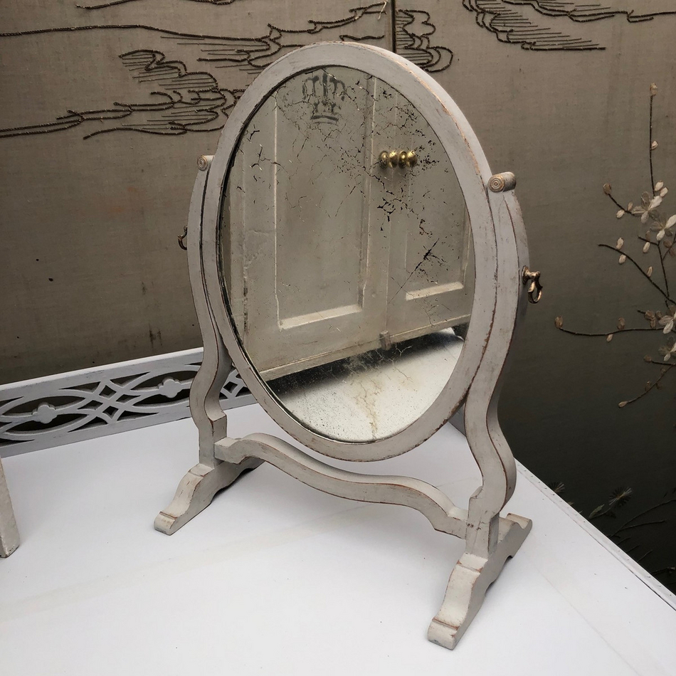 Strange Adorable Little Antique Georgian Regency Style Table Swing Antique Mirror Glass Home Interior And Landscaping Ologienasavecom